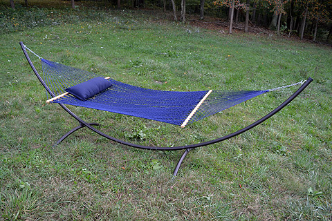 Arc Large Hammock Stand with Lapis Hammock
