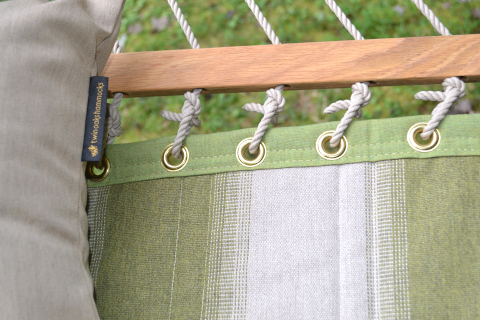 Mossy Stripe Quilted Sunbrella