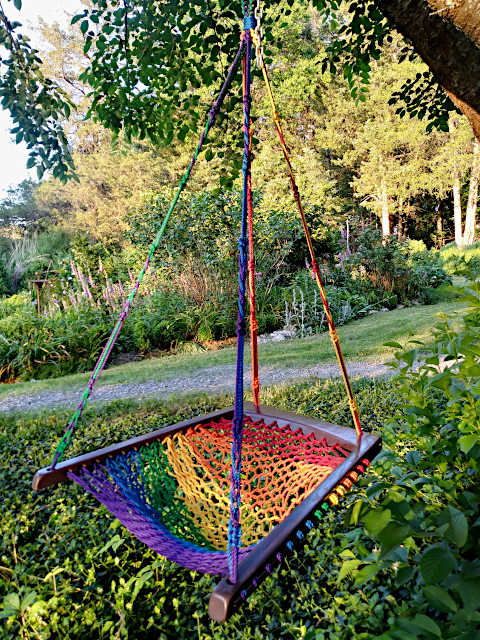 Rainbow Purple Haze Hanging Chair