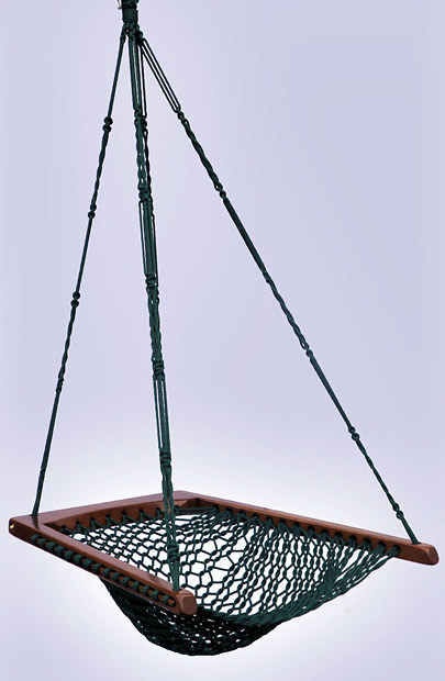 Green Hanging Chair - Spruce Rope