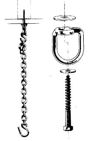 Hanging Chair hardware kit schematic drawing