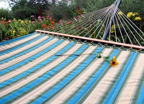Rainforest Sunbrella Quilted Hammock
