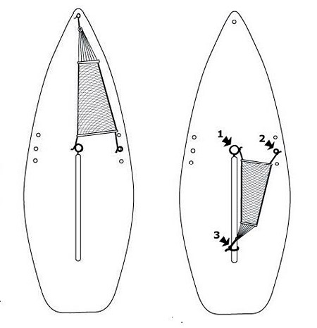 Sailboat Hammock drawings showing use