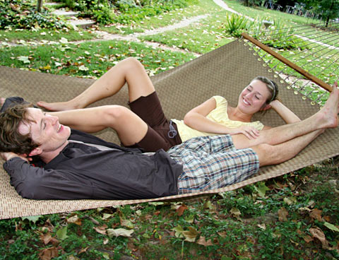 Slate Sunbrella Sling Hammock