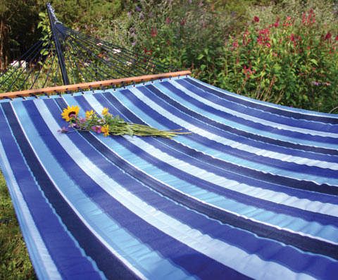 Cobalt Sunbrella Quilted Hammock