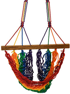 Rainbow Hanging Chair Footrest