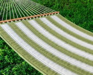 Mossy Stripe Sunbrella® Quilted Hammock