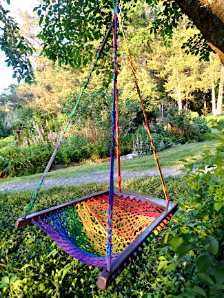 Hanging Chair - Rainbow Purple Haze
