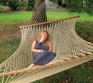 Family Size Silk-Spun Hammock Flax