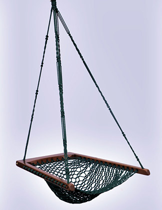 Hanging Chair - Green Rope