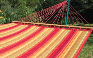 Scarlet Sunbrella® Quilted Hammock