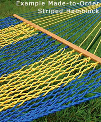 Made-To-Order Striped Rope Hammocks